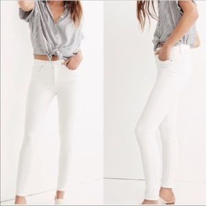 Madewell High Riser Skinny White Jeans Sz 27